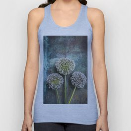 Three Allium Flowers Unisex Tank Top