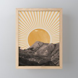 Abstract Landscape, Mountain and Sunshine Framed Mini Art Print