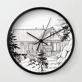 MOFFITT CABIN, Travel Sketch by Frank-Joseph Wall Clock
