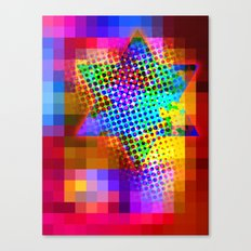 Modern Judaica- Saturated Star Canvas Print