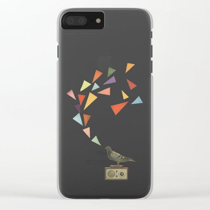 Pigeon Radio Clear iPhone Case