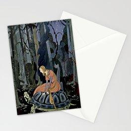 """The Black Tortoise"" by Virginia Frances Sterrett Stationery Cards"