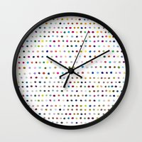 dots Wall Clocks featuring Dots by Farnell