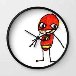 Silas Rocket Superhero 8 Wall Clock