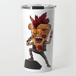 Rocking Pizza Slice | Cheesy Singer Music Travel Mug