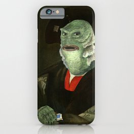 Creature from the Italian Renaissance: Giuliano De Medici meets Black Lagoon iPhone Case