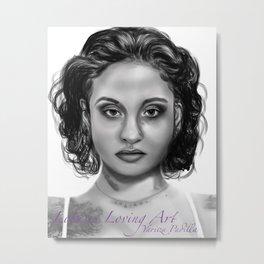 Kehlani Portrait  Metal Print