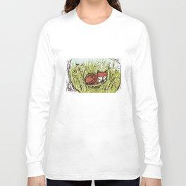 Fox in a Field Long Sleeve T-shirt
