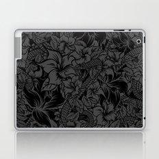 Snaky Fleur, Black and Grey Laptop & iPad Skin