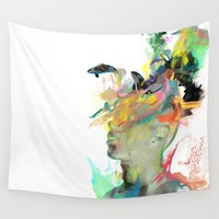 archan nair Wall Tapestries featuring Orca Magic by Archan Nair