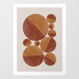 Abstract balls Art Print