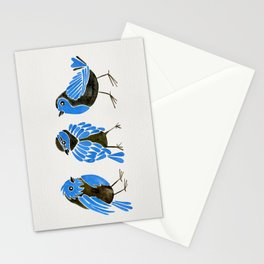 Blue Finches Stationery Cards