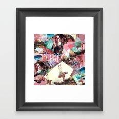 Feel Good - geometric Framed Art Print
