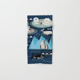 Arctic animals blue Hand & Bath Towel