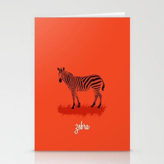 4-Legged Exotica Series: Zebra Stationery Cards