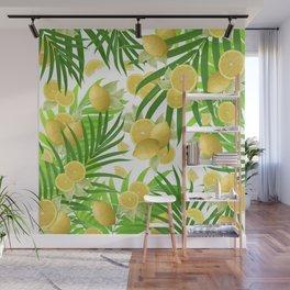 Summer Lemon Twist Jungle #2 #tropical #decor #art #society6 Wall Mural