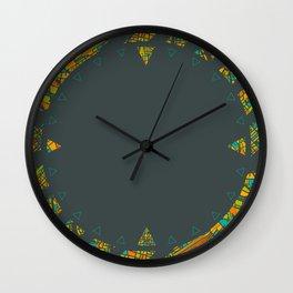 Arrows Map Wall Clock