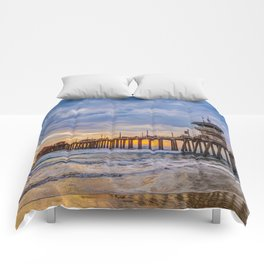 Unsettled Sunset Comforters