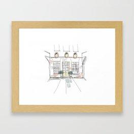 Crane Mansion Framed Art Print