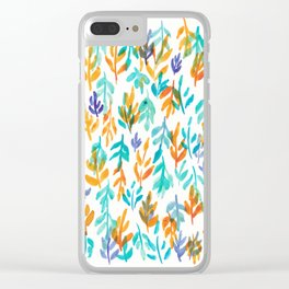 180726 Abstract Leaves Botanical 23 Botanical Illustrations Clear iPhone Case