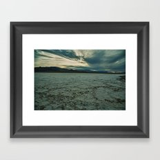 Salt or Snow? Framed Art Print