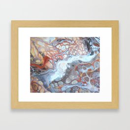 River Bed Pebbles - Abstract Acrylic Art by Fluid Nature Framed Art Print
