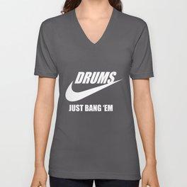 Drums  Just Drummer Unisex V-Neck