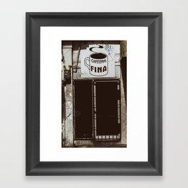 Café Fino Framed Art Print