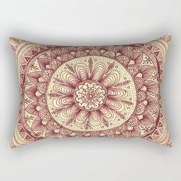 mandala: maroon Rectangular Pillow