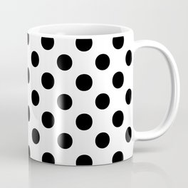 Polka Dots (Black/White) Coffee Mug