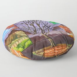 Time periods Floor Pillow