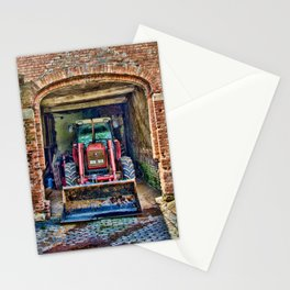 Tractor at rest Stationery Cards