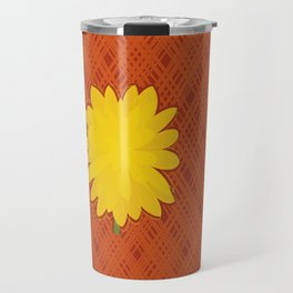 Yellow Dahlia Travel Mug