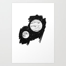Nothing and everything Art Print
