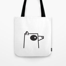 Minimalist Raccoon Tote Bag