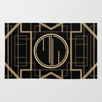 the great gatsby Area & Throw Rugs featuring MJW- GREAT GATSBY STYLE by MATT WARING