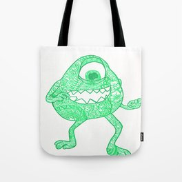 43. University Monster Mike in Halloween with Henna  Tote Bag