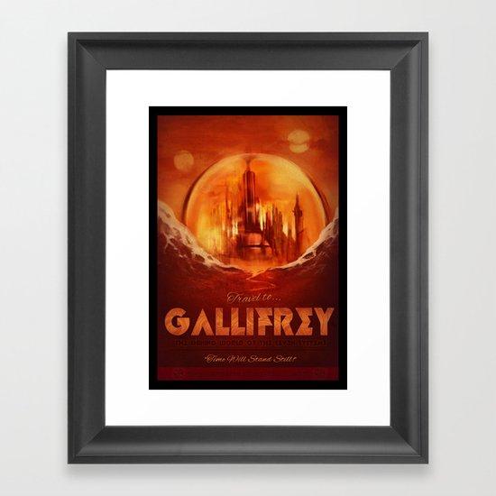 Travel to Gallifrey! Framed Art Print
