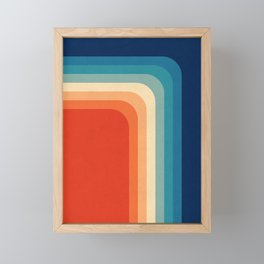Retro 70s Color Palette III Framed Mini Art Print