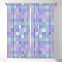 Purple pixel play surface background Blackout Curtain