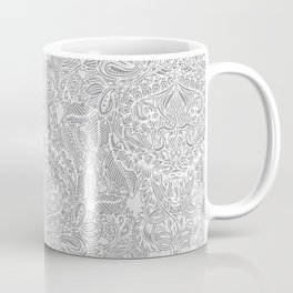 Frost & Ash - an Art Nouveau Inspired Pattern Coffee Mug