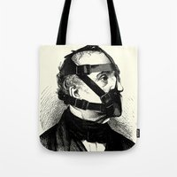 bdsm Tote Bags featuring BDSM XXXX by DIVIDUS