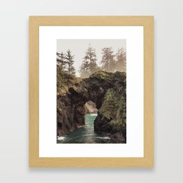 Fog at Natural Bridges Framed Art Print