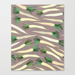 Daikon Radish Carrot Roots Canvas Print