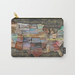 USA States Map Carry-All Pouch