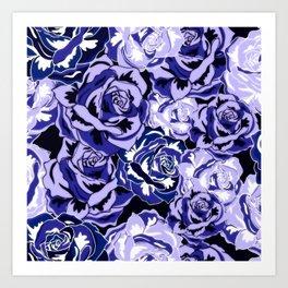 Beautiful Violet Roses Art Print