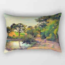 Bridge at Montfoucault by Camille Pissarro Rectangular Pillow