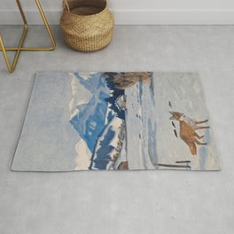 Jugend-Munich illustrated weekly for art and life - 1906 Cold Climate Snow Mountains Fox Rug