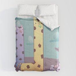 Kawaii Giraffe Planet Comforters