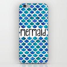 Mermaid Scales in Blue iPhone & iPod Skin